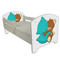 Детская кровать Oskar Мишка с подушкой 140 х 70 Baby Boo 100138