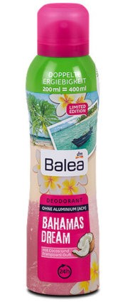 "Balea дезодорант ""bahamas dream""концентрат 200мл.Германия"