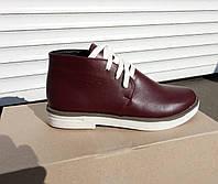 Женские кожаные демисезонные ботинки, фото 1