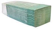 Полотенца бумажные зеленые однослойные V-складка, Производитель – GREENIX УКРАИНА