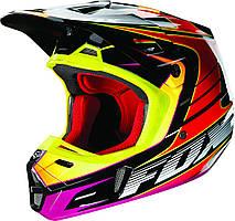 Мотошлем Fox V2 RACE ECE красно-желтый, 2XL