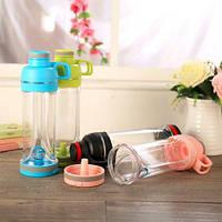 Спортивная бутылка для воды и телефона SO-KID Н-606 400 мл Pink