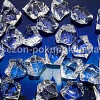 "(25шт) Кристаллы пластик 25х15мм (""Искусственный лед"") Цвет – ПРОЗРАЧНЫЙ"