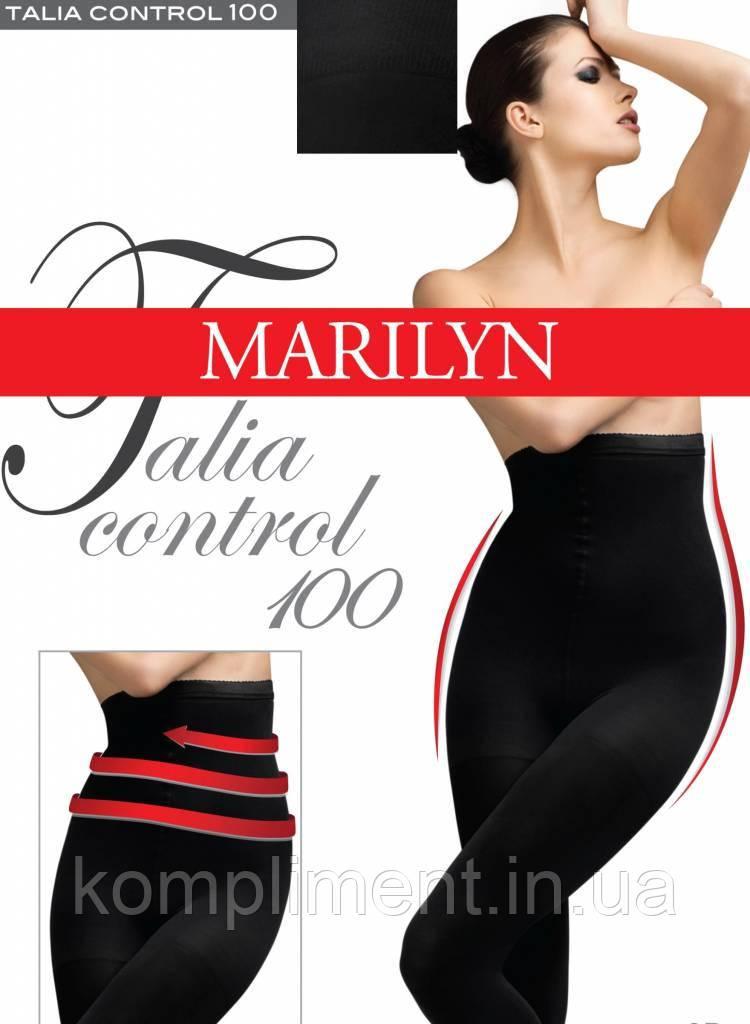 Плотные завышенные колготки с сильной утяжкой Marilyn Talia control 100 den