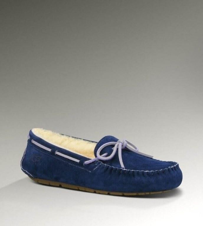 UGG Dakota Slipper Navy Blue. Женские мокасины. Стильные моказины UGG Ansley Grey.