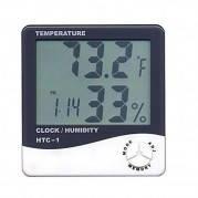 Термометр (гигрометр) цифровойHTC2 с часами и будильникомс выносным датчиком измерения температуры