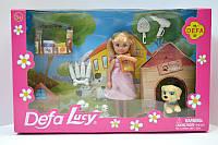 Кукла Defa 13 см с собачками