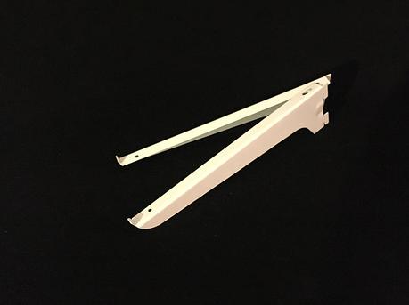 Полкодержатель белый в рейку 24.5 см, фото 2