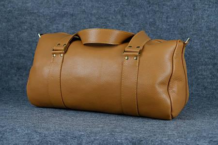Именная спортивная сумка «Travel» |10152| Люксор гладкий| Рыжий