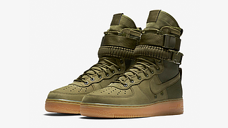 Женские кроссовки  Nike Air Force 1 Special Field olive АТ-614