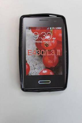 Силиконовый чехол для LG E430 Optimus L3, фото 2