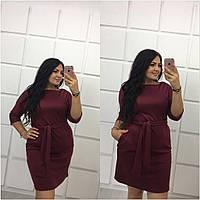 Женское платье большого размера Марсала