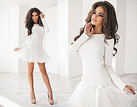 Платье (42,44,46) —  французский трикотаж купить оптом и в розницу в одессе  7км