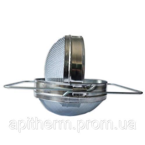 Двухсекционный фильтр D-200 мм оцинкованный выпуклый