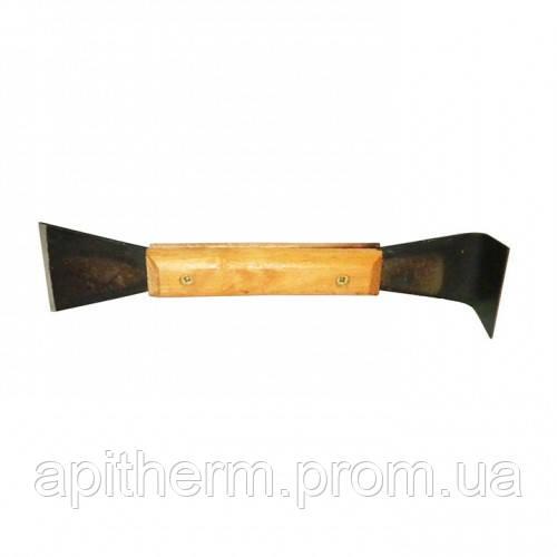Стамеска пасечная с деревянной ручкой, Стальная