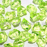 "(25шт) Кристаллы пластик 25х15мм (""Искусственный лед"") Цвет – ЛИМОННЫЙ"