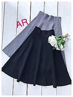 Стильная женская юбка вязаная расцветки