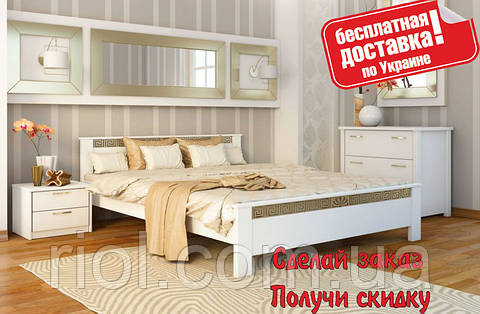 Кровать деревянная Афина двуспальная