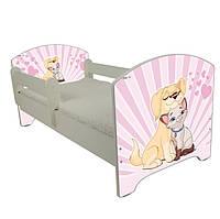 Детская кровать Oskar Влюбленные 140 х 70 Baby Boo 100143