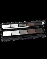 Палитра теней 5 цветов TopFace Pro Palette Тон 01 Белые, серые матовые
