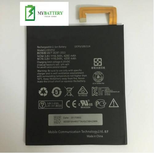 Оригинальный аккумулятор АКБ батарея Lenovo L13D1P32 для Lenovo lepad A8-50 A5500