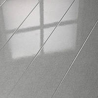"Глянцевый ламинат HDM Коллекция ""Superglanz Diele Sensitive"" Металлик серый 32 класс, 9 мм Германия"