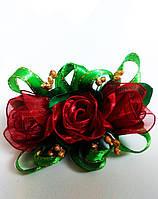 Заколка ручной работы «Бутоны роз»