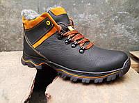 Зимние кожаные мужские ботинки , фото 1