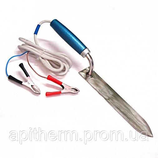 Нож пасечный с электронагревом 230 мм. Нержавеющая сталь 12 В