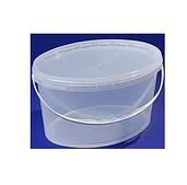 Ведро 5,6 л. овал пластиковое для пищевых продуктов код 5600V