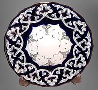 Узбекская национальная посуда Пахта-золотая. Ляган, диаметр 28 см.