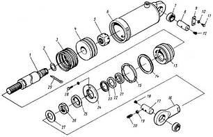 88 Гідроциліндр нахилу 4081-4614 на львівський навантажувач