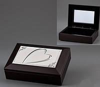 Деревянная шкатулка для украшений Сердце 18*13*5 см