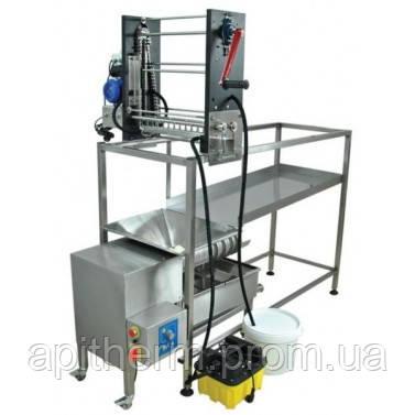 Распечатыватель сот ручной, станок для отжима забруса 100 кг.  Лысонь Польша
