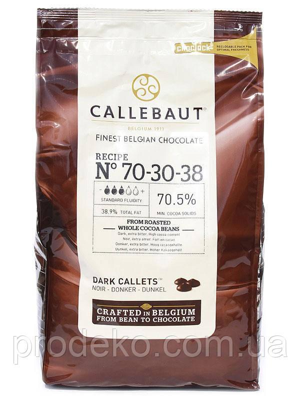 "Шоколад черный ""Callebaut Strong"" 70,5 % какао, каллеты 2,5 кг"