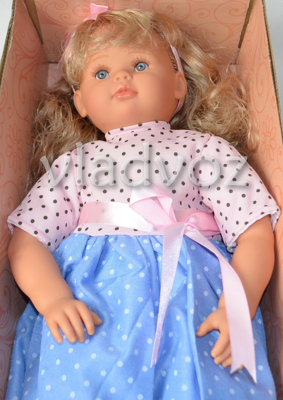 Кукла детская большая в голубом платье, Nikole 56 см.