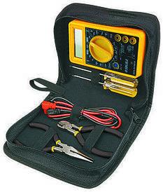 Набор мультиметр цифровой + плоскогубцы и отвертки (кейс) Sigma 4008531