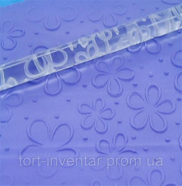 Baking Tools Скалка текстурная Цветочный ковер