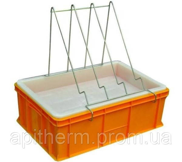 Ванночка пластмассовая для распечатки сот 200 мм. Сито пластмассовое
