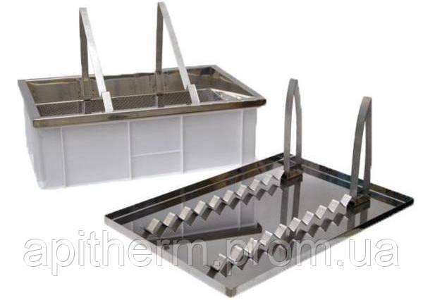Ванночка для распечатки сот двух функциональная высота 200 мм, нержавеющее сито
