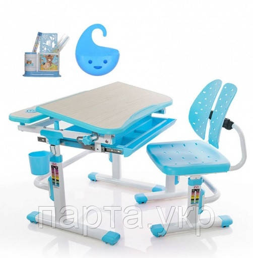 Комплект детская парта + стул  Mealux Evo-05, 3 цвета