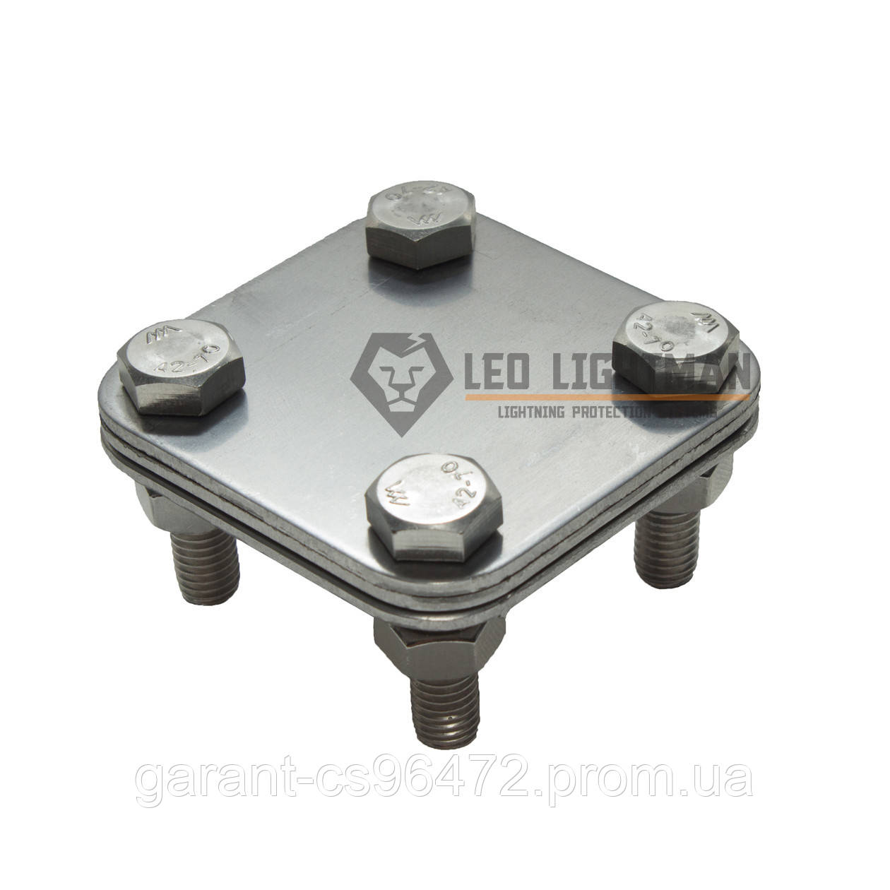 З'єднувач хрестової Cross для плоских провідників шириною до 30мм NI (V2A)