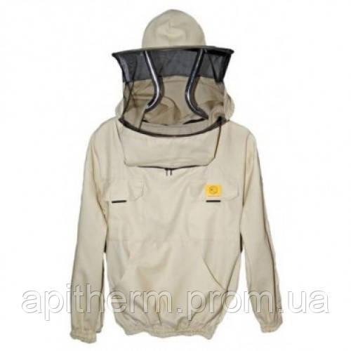 Куртка пчеловода с маской без молнии 100% Коттон. Размер L / 50-52. Рост 176 - 183 см. Лысонь Польша  52 Белый