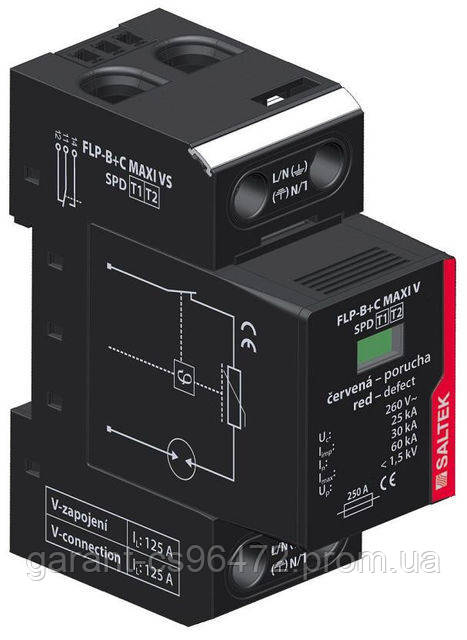 Комбинированный грозовой разрядник УЗИП SALTEK FLP-B+C MAXI VS/1