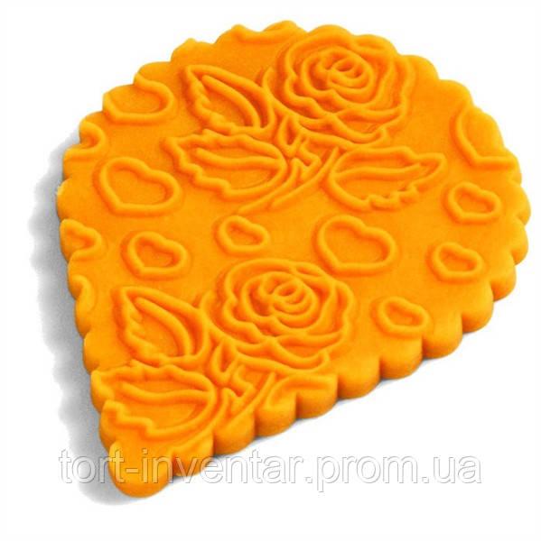 Fat Daddio's Скалка текстурная Розы