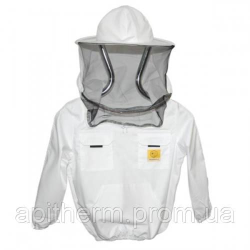 Куртка пчеловода детская с маской без замка Рост 116 см
