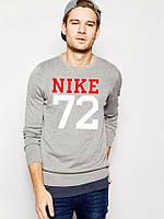 Спортивная кофта Nike 72\Найк 72, серая, тонкая, Л3992