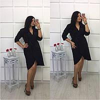 Женское платье черное большого размера