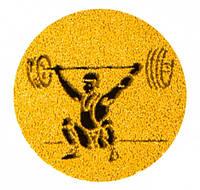 Наклейка на медаль Тяжелая атлетика