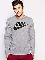 Спортивная кофта Nike, серая, прикольная, хлопковая, Л4025